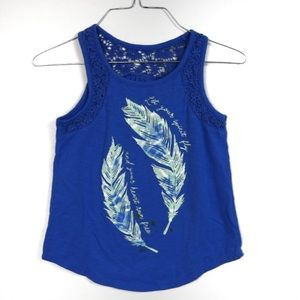 L393 Justice Blue Feather Tank Size 8